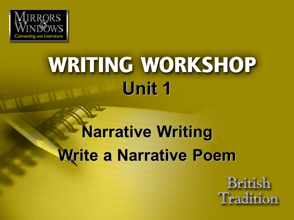  Revise  Proofread for Errors Read through your poem again to check for any remaining errors.