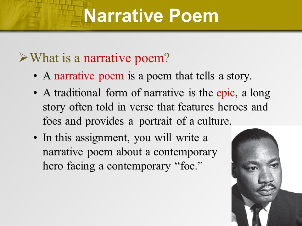  Draft  Conventions of Poetry Traditional poems also have meter and rhyme.
