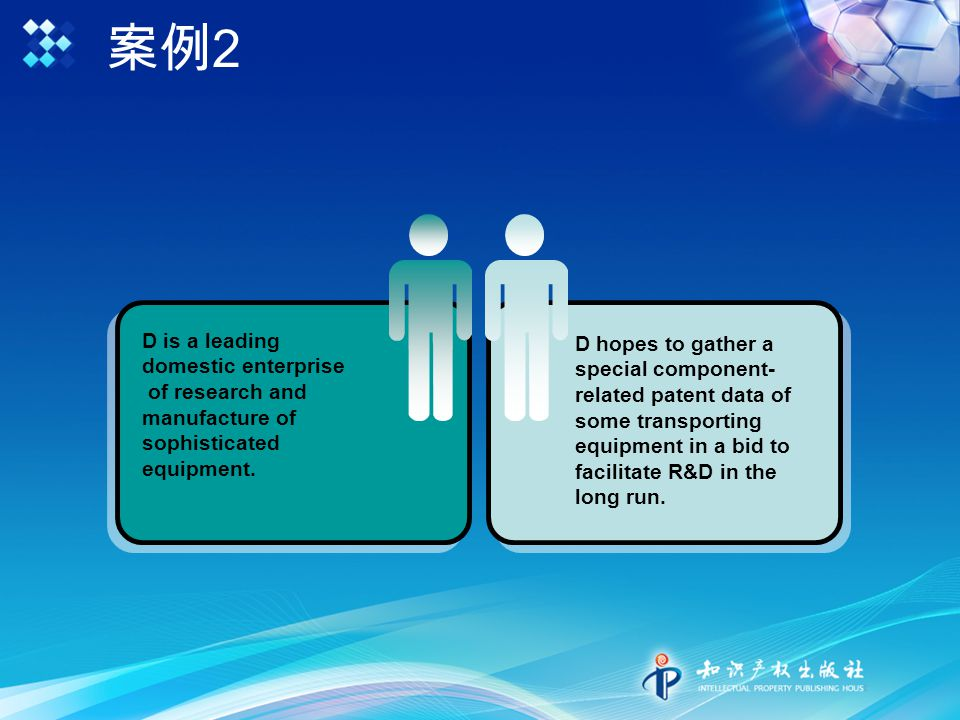案例 2 D is a leading domestic enterprise of research and manufacture of sophisticated equipment.