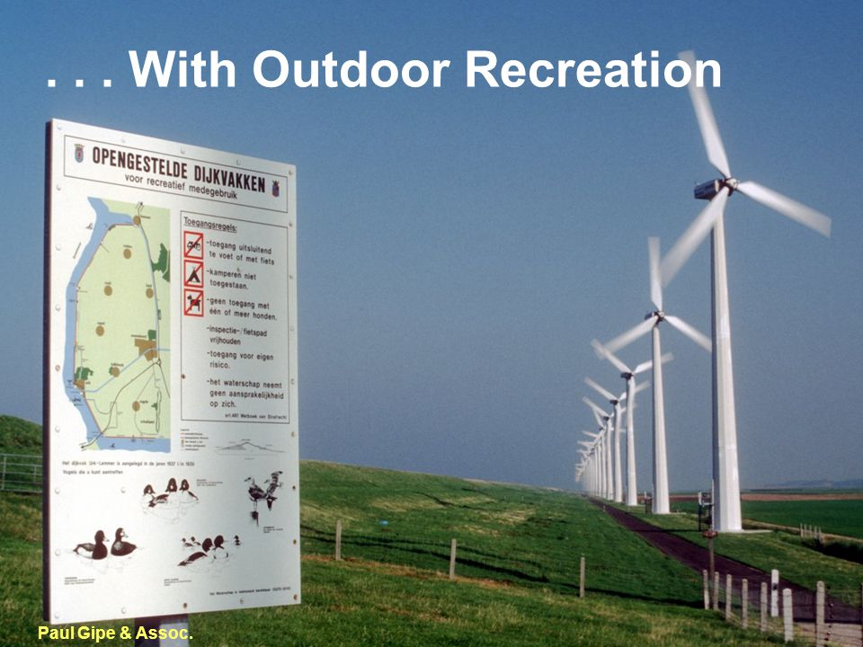 ... With Outdoor Recreation Paul Gipe & Assoc.