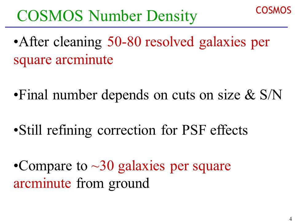 5 COSMOS Parameter Space Unique combination of area, depth and resolution Opens door for unprecedented dark matter maps COSMOS