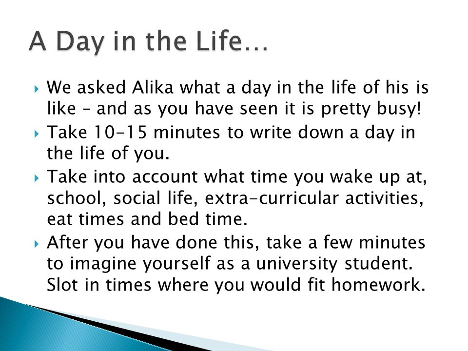  We asked Alika what a day in the life of his is like – and as you have seen it is pretty busy.