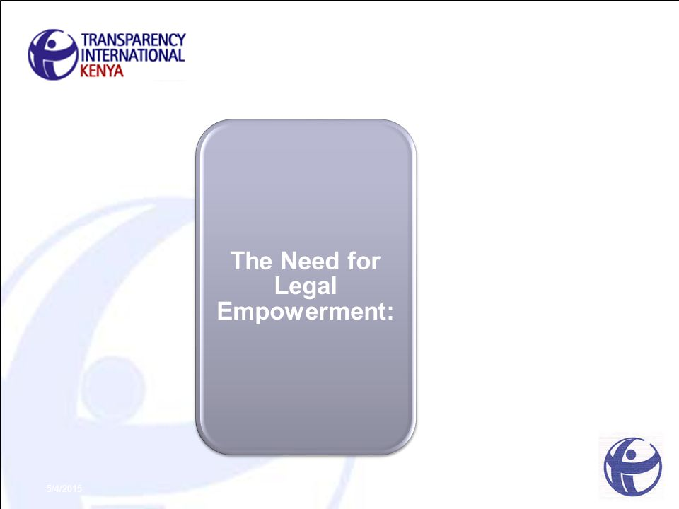 The Need for Legal Empowerment: