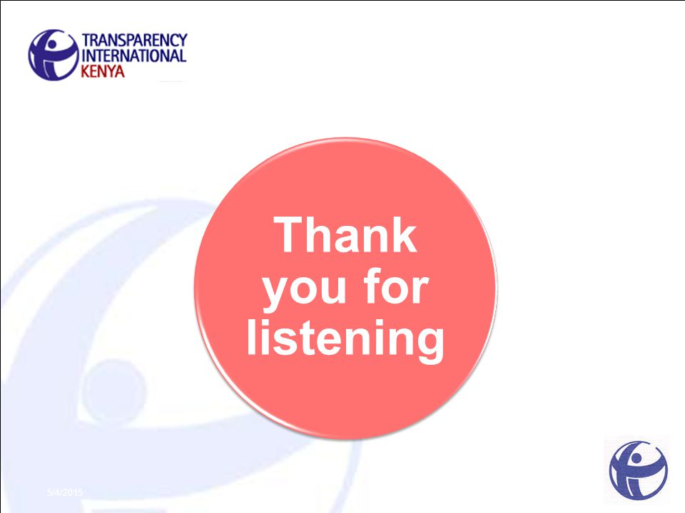 Thank you for listening 5/4/2015