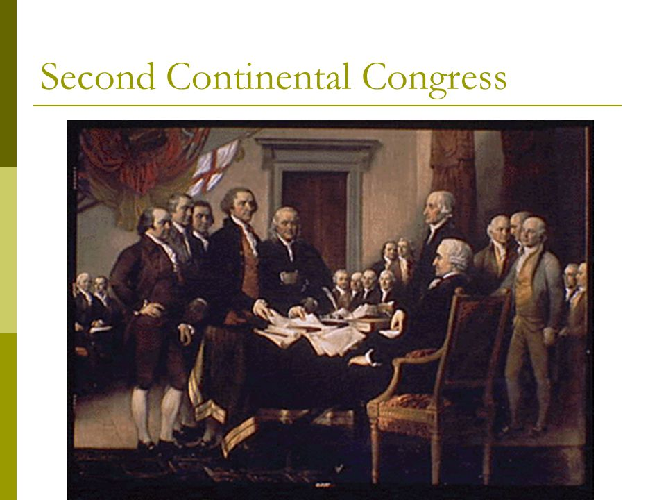 Second Continental Congress