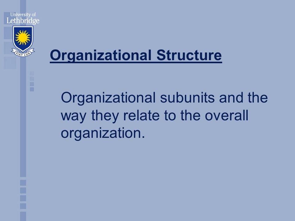 Types of Organizational Structures Traditional Flat Project Team Multi-Dimensional Virtual http://www.evektor.cz/evektor/images/organisation_chart_EN.gif
