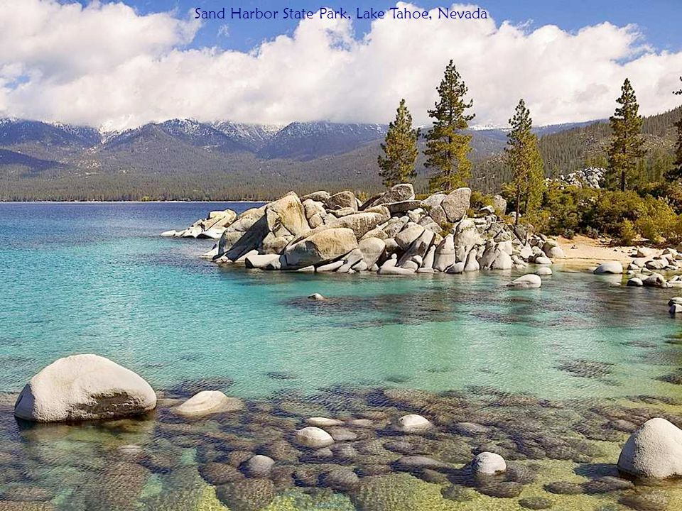 Sight Seeing by Canoe, Lake Tahoe, California/Nevada