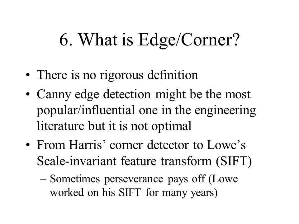 6. What is Edge/Corner.