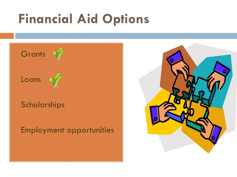 Financial Aid Options Grants Loans Scholarships Employment opportunities