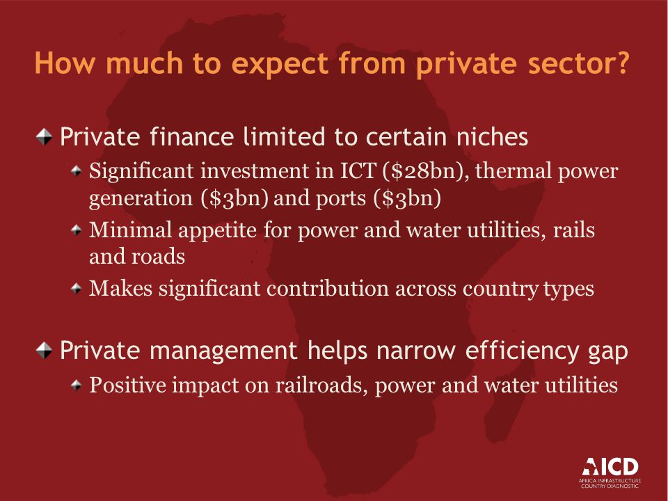 How much to expect from private sector.