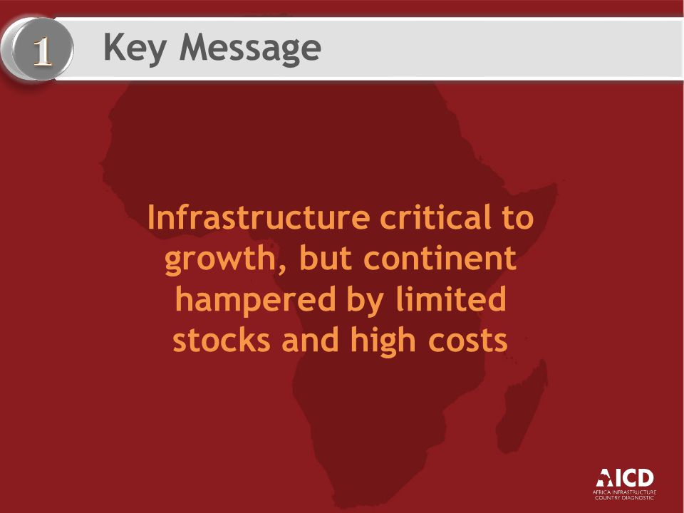 Key Message Transforming Africa's infrastructure will require an additional US$31 billion a year and huge efficiency gains