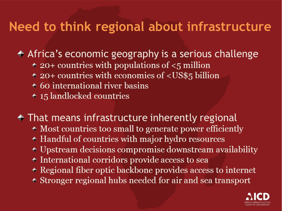Three quarters of infrastructure spending is financed by African tax-payers and consumers