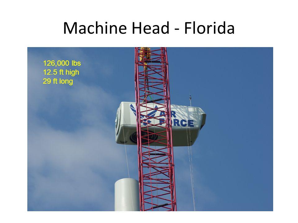 Machine Head - Florida 126,000 lbs 12.5 ft high 29 ft long