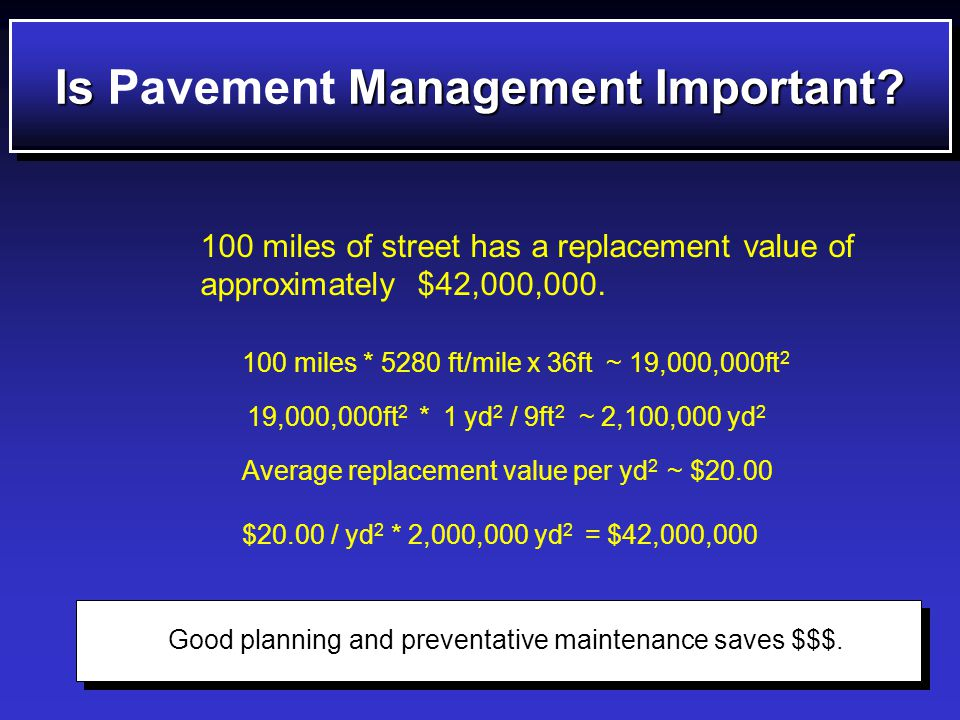 CIPCIP Avoid maintaining a street in 1998 and then the storm drain under it in 1999.
