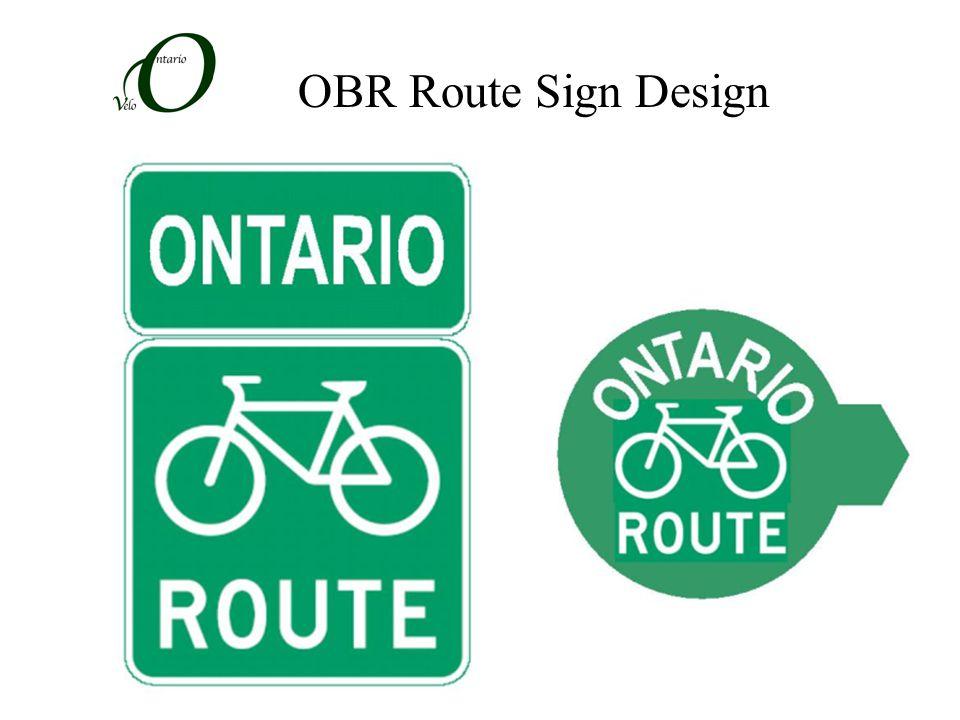 OBR Route Sign Design