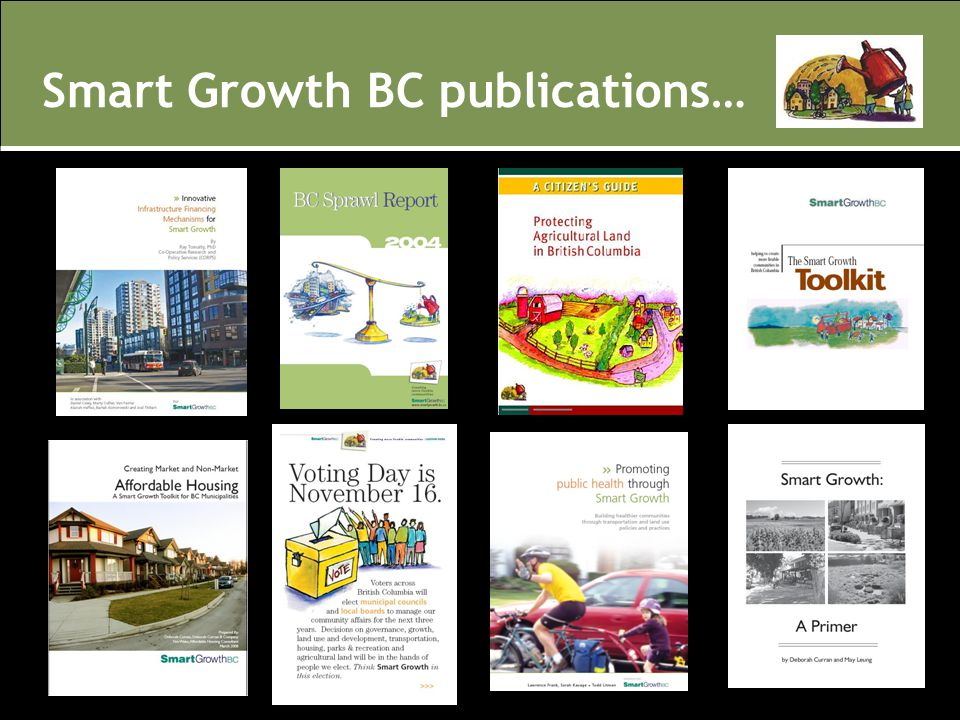 Smart Growth BC publications…