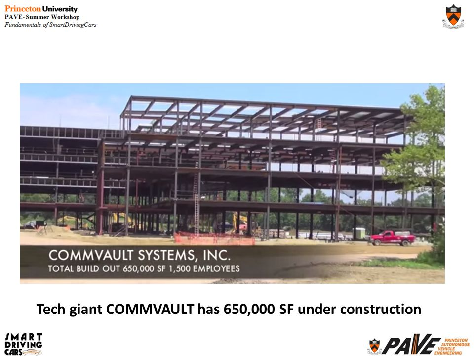 Tech giant COMMVAULT has 650,000 SF under construction