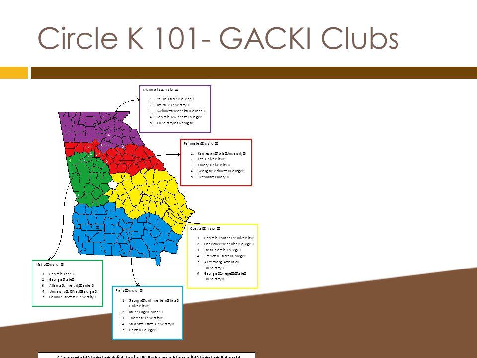 Circle K 101- GACKI Clubs