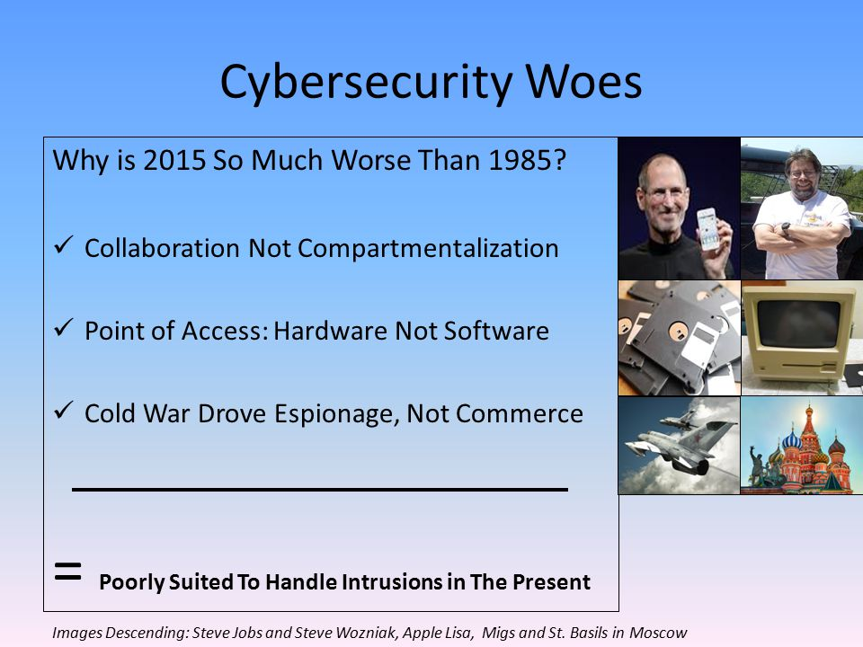 Cybersecurity Woes Why is 2015 So Much Worse Than 1985.