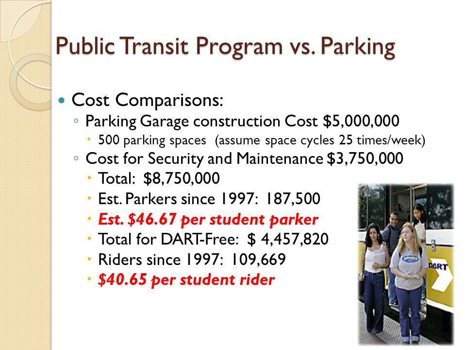 Public Transit Program vs.