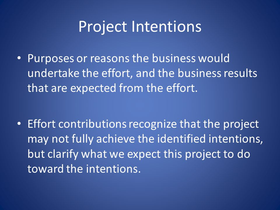 BPI Project Definition This includes identification of – The project stakeholders – Intentions of conducting the project – Any constraints on the solution – Agreements on the project approach – Selection of project participants