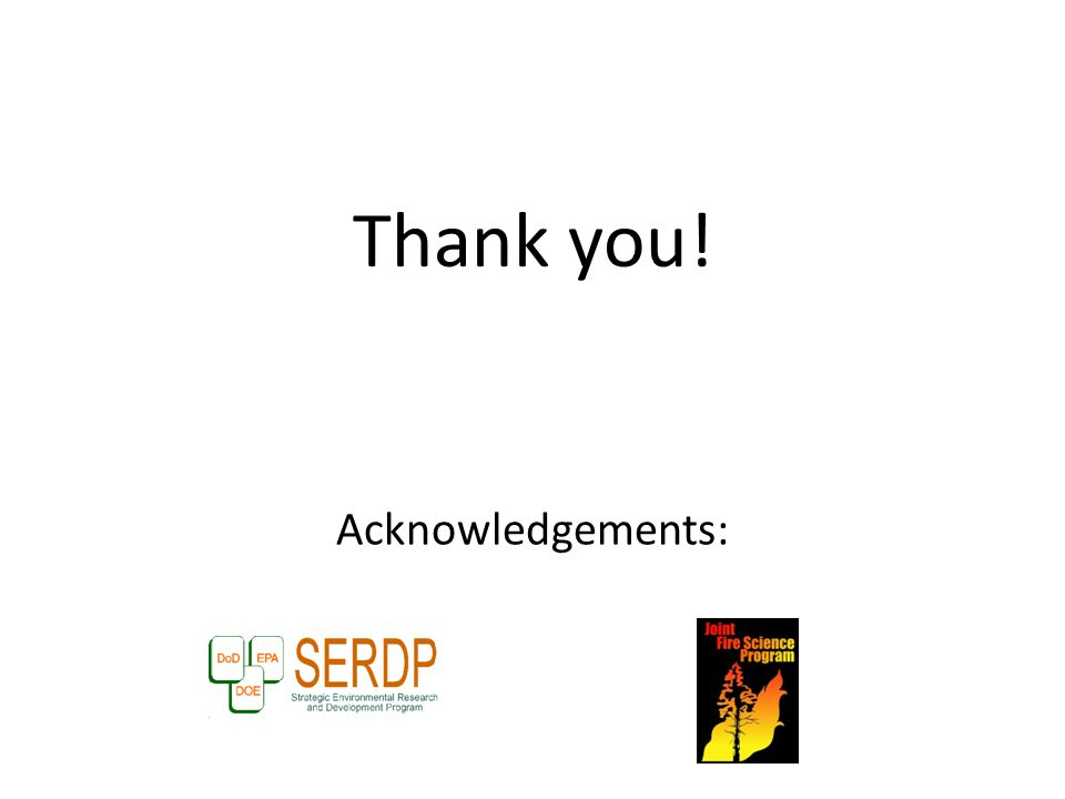 Thank you! Acknowledgements: