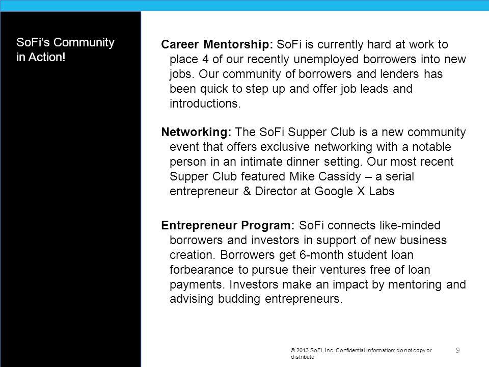 A SoFi Entrepreneur © 2013 SoFi, Inc.