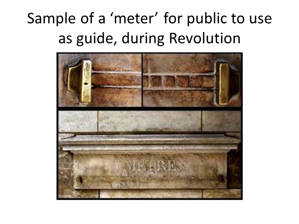 Sample of a 'meter' for public to use as guide, during Revolution
