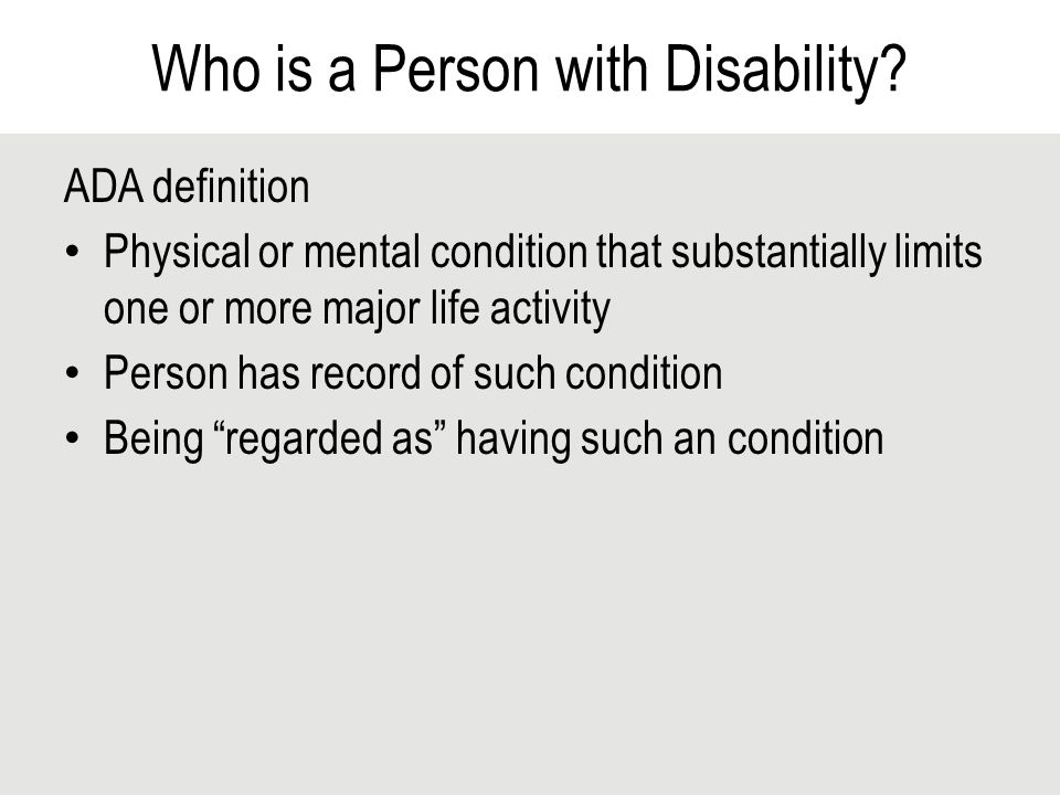 Visible and Hidden Disabilities