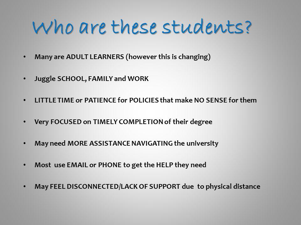 Who are these students. Who are these students.