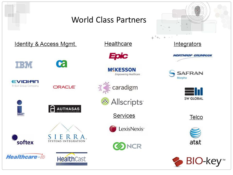 World Class Partners Identity & Access Mgmt. Healthcare Integrators Telco Services
