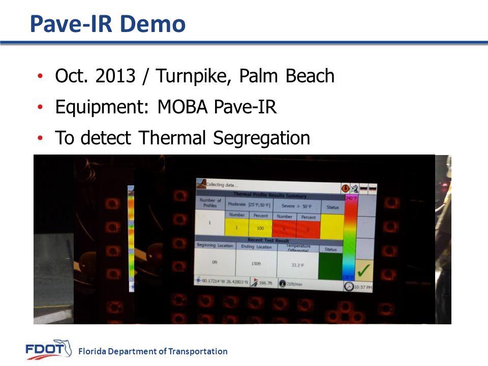 Florida Department of Transportation Pave-IR Demo Oct.