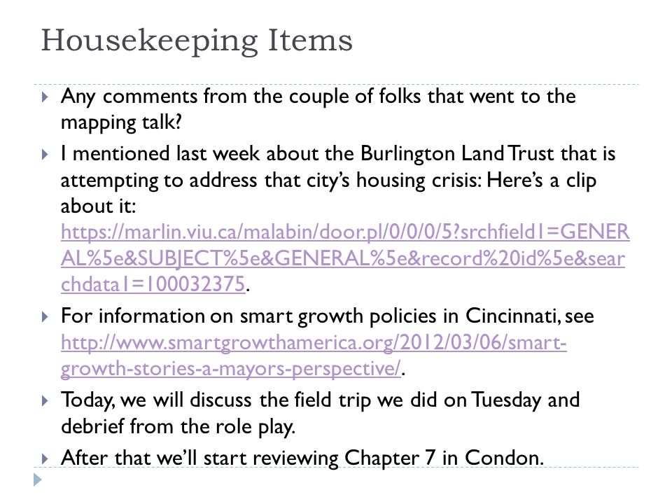 Housekeeping Items  Any comments from the couple of folks that went to the mapping talk.