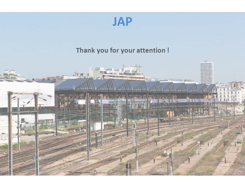 JAP Thank you for your attention !