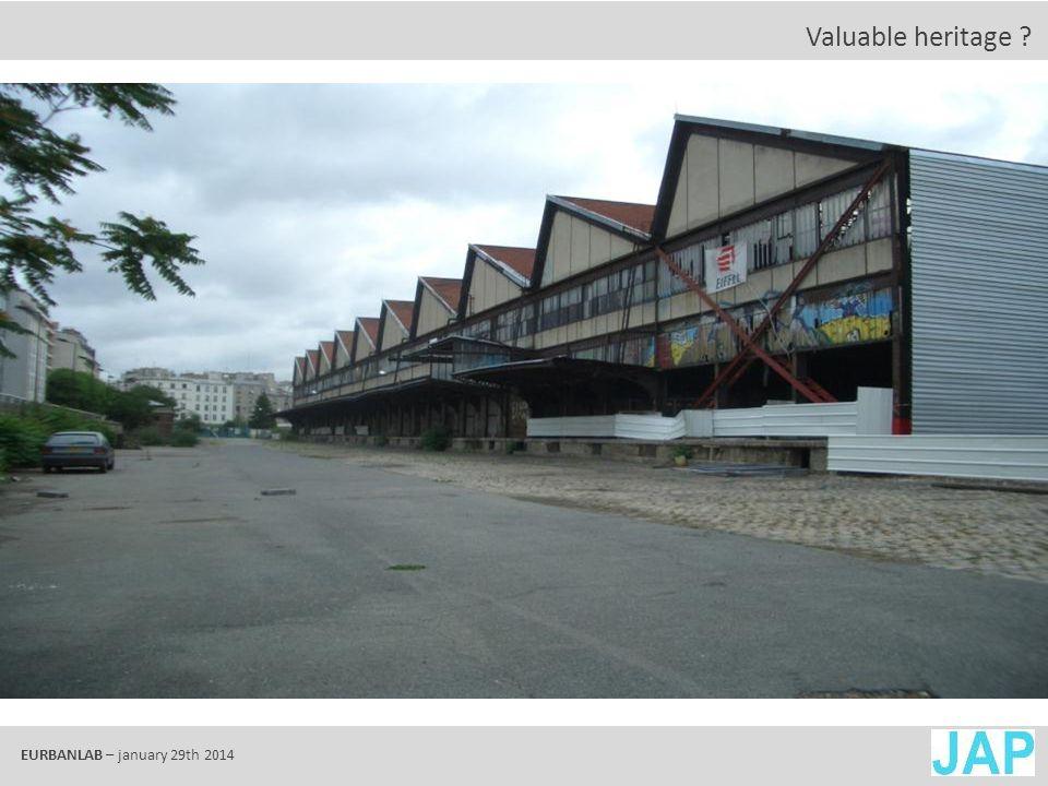 EURBANLAB – january 29th 2014 Valuable landscape ?