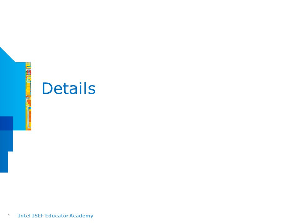 Intel ISEF Educator Academy Details 5
