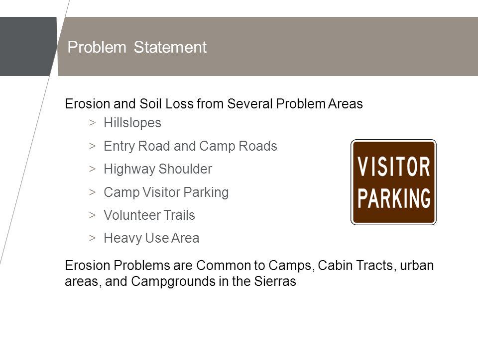 Erosion Problems Hillslopes