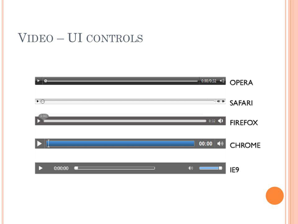 V IDEO – UI CONTROLS