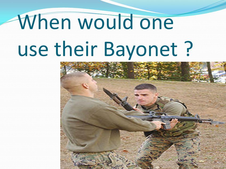 How effective were Bayonet's in World War I ?