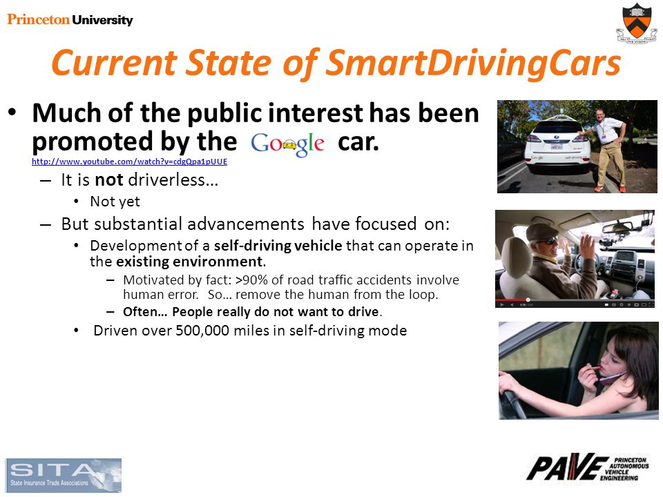 Current State of SmartDrivingCars Much of the public interest has been promoted by the car.