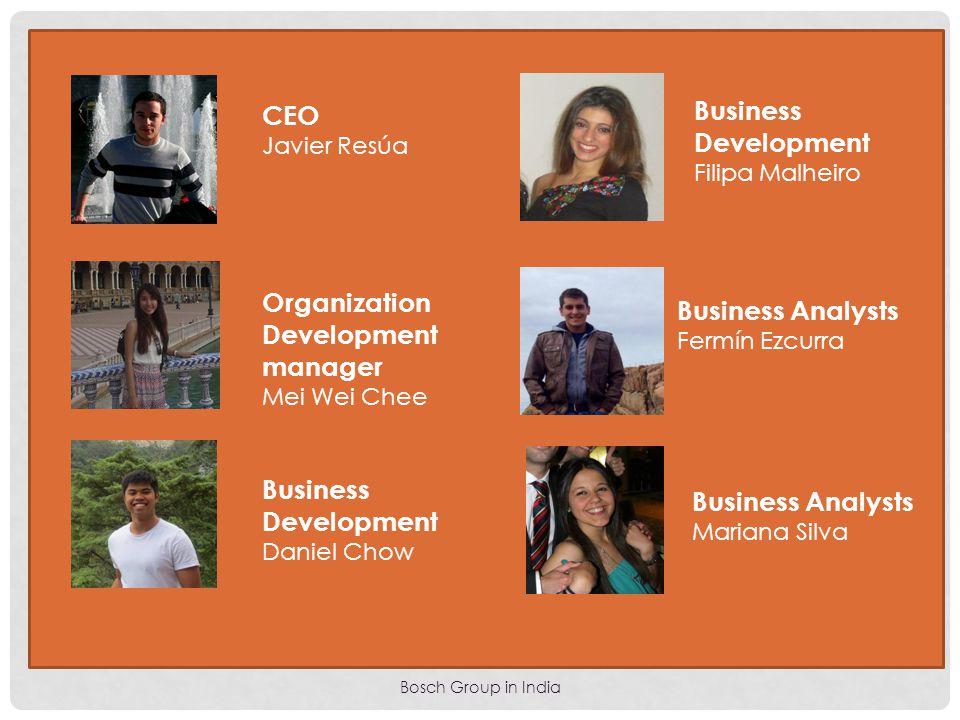 Bosch Group in India CEO Javier Resúa Organization Development manager Mei Wei Chee Business Development Daniel Chow Business Development Filipa Malhe