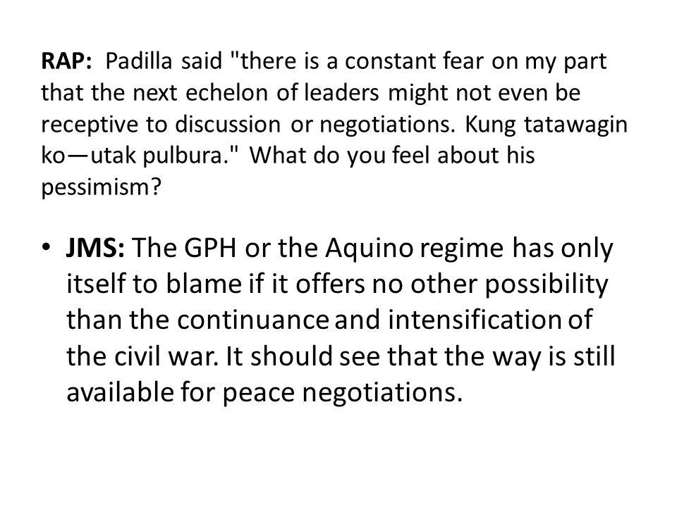 RAP: Padilla said