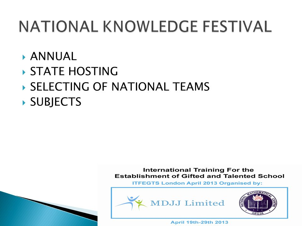  ANNUAL  STATE HOSTING  SELECTING OF NATIONAL TEAMS  SUBJECTS