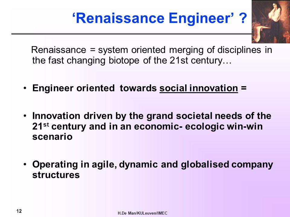 H.De Man/KULeuven/IMEC 12 'Renaissance Engineer' .