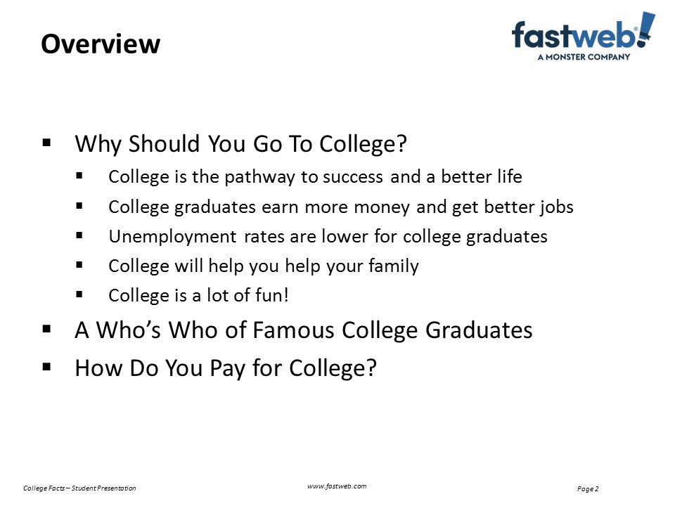  Why Should You Go To College.