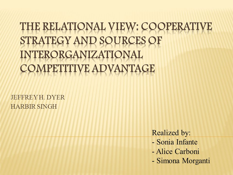Sources of competitive advantages Resource based viewIndustry structure view