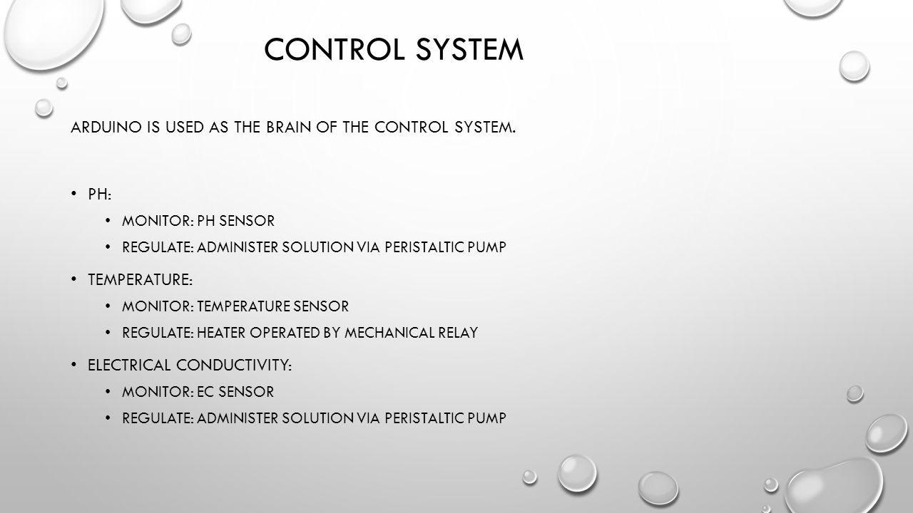 CONTROL SYSTEM ARDUINO IS USED AS THE BRAIN OF THE CONTROL SYSTEM.