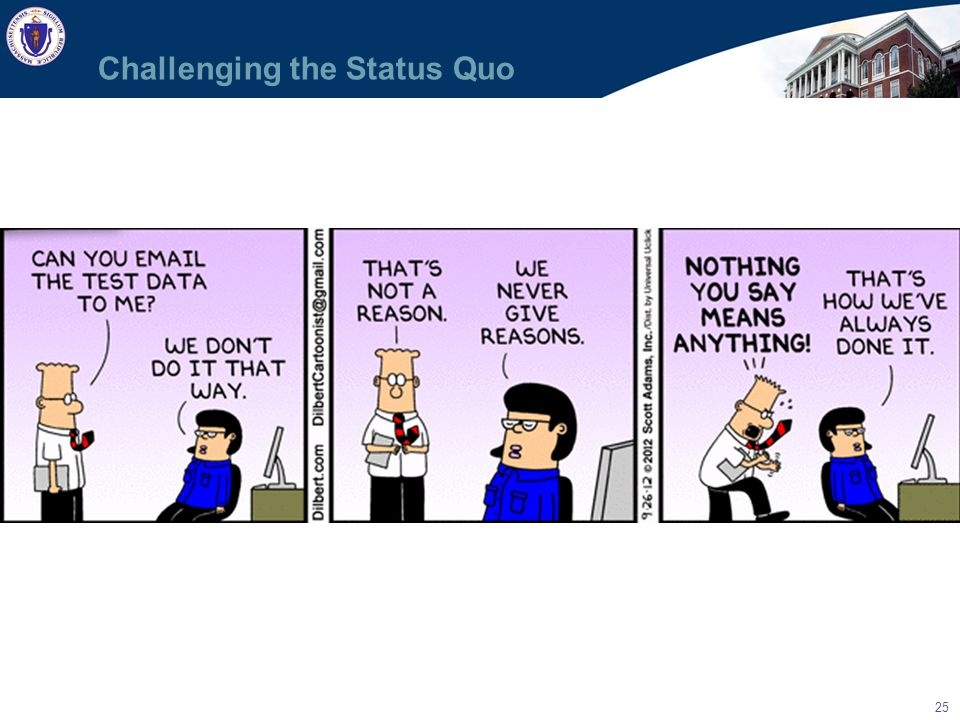 25 Challenging the Status Quo