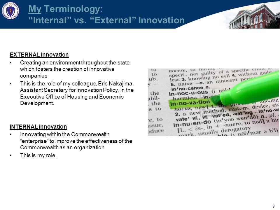 9 My Terminology: Internal vs.