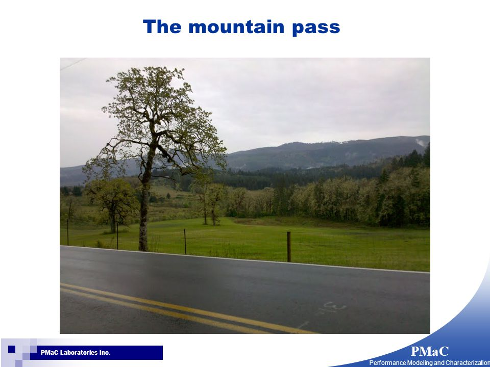 PMaC Performance Modeling and Characterization PMaC Laboratories Inc. The mountain pass